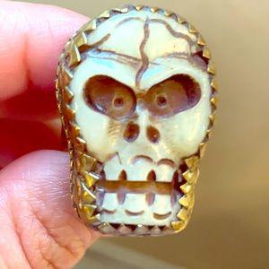 Handmade Skull statement ring